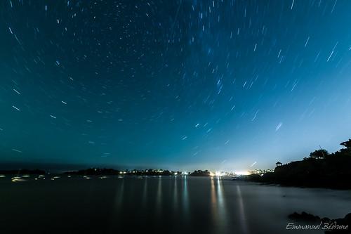 Star trails by Namu Bedroom
