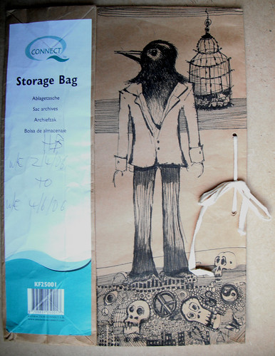 Storage Bag Crow and Skelly by The People In My Head