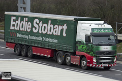 Volvo FH 6x2 Tractor - PX61 BKV - Lilly Mai - Green & Red - 2011 - Eddie Stobart - M1 J10 Luton - Steven Gray - IMG_0176