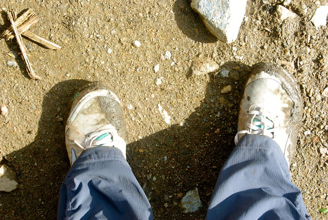 shoes on salkantay hike peru