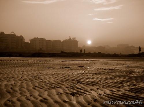 sunset beach sepia tramonto 1001nights spiaggia cattolica abigfave rebranca 1001nightsmagiccity italy2012