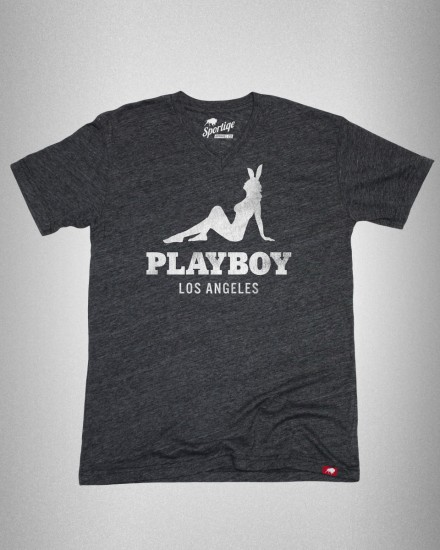 Playboy Sportiqe Los Angeles Bunny V-Neck T-Shirt