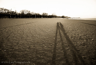 Long shadows of me and Paula