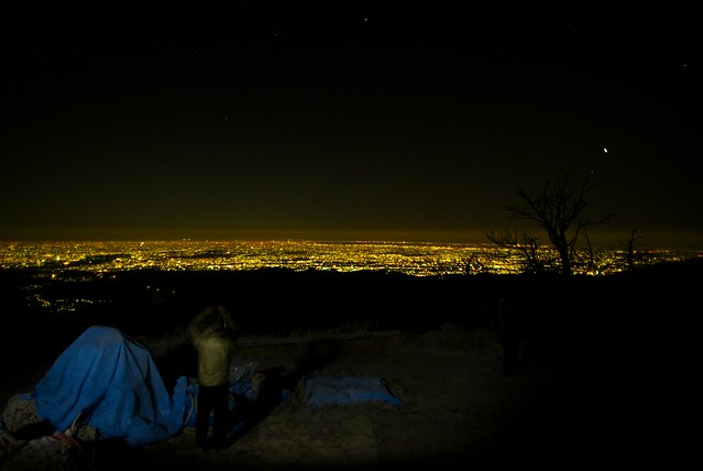 蛭ヶ岳小屋からの夜景