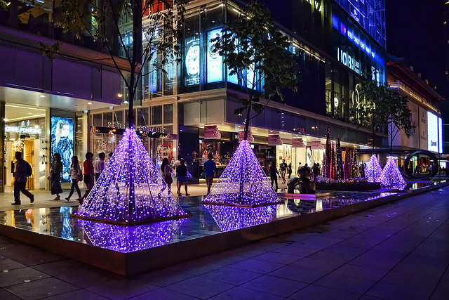 Purple Christmas at Scotts Square, Singapore