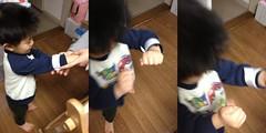 反射リストバンドをつけるて (2012/11/28)