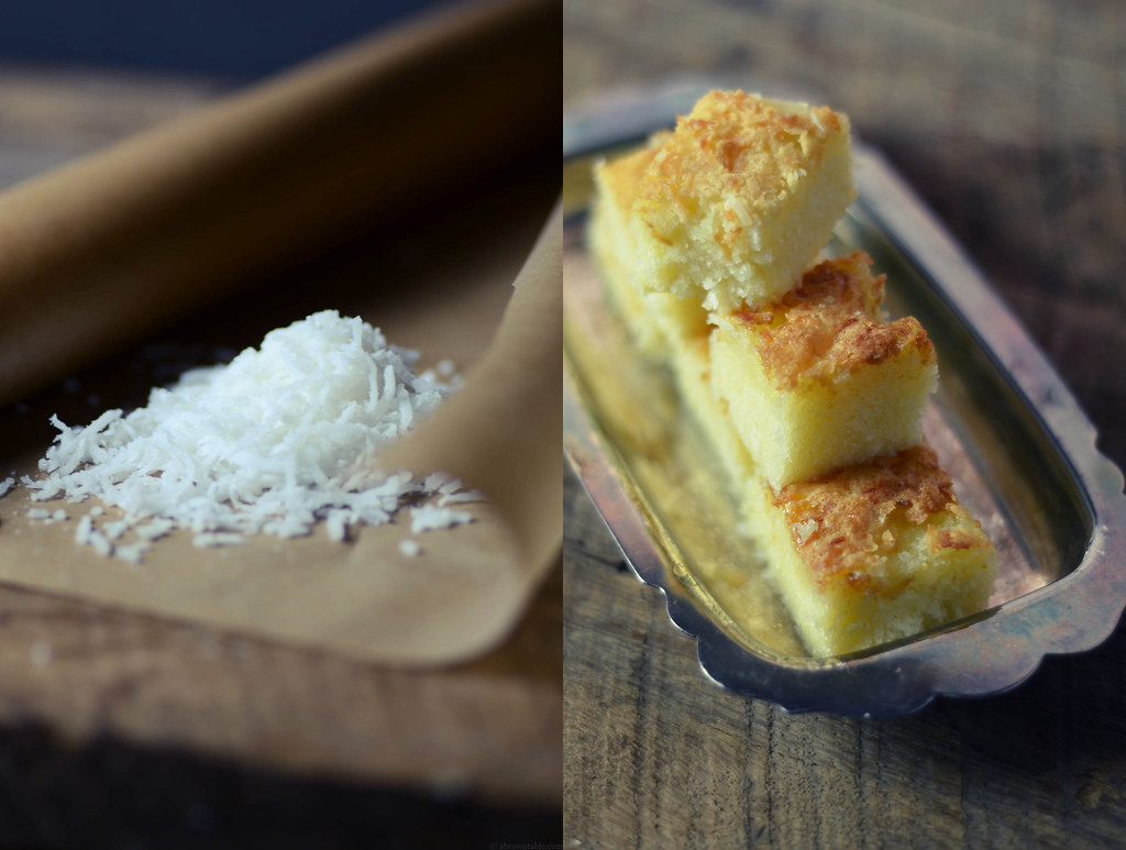 Shredded Coconut and Cake