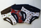 Set of 3 Medium Underwear Style Trainers