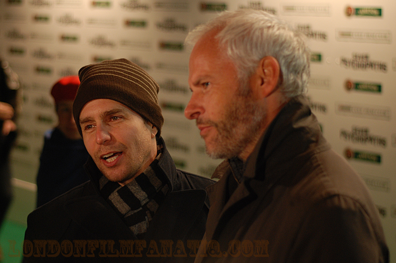 Seven Psychopaths star Sam Rockwell and director Martin McDonagh at the Jameson Cult Film Club premiere 27 November 2012