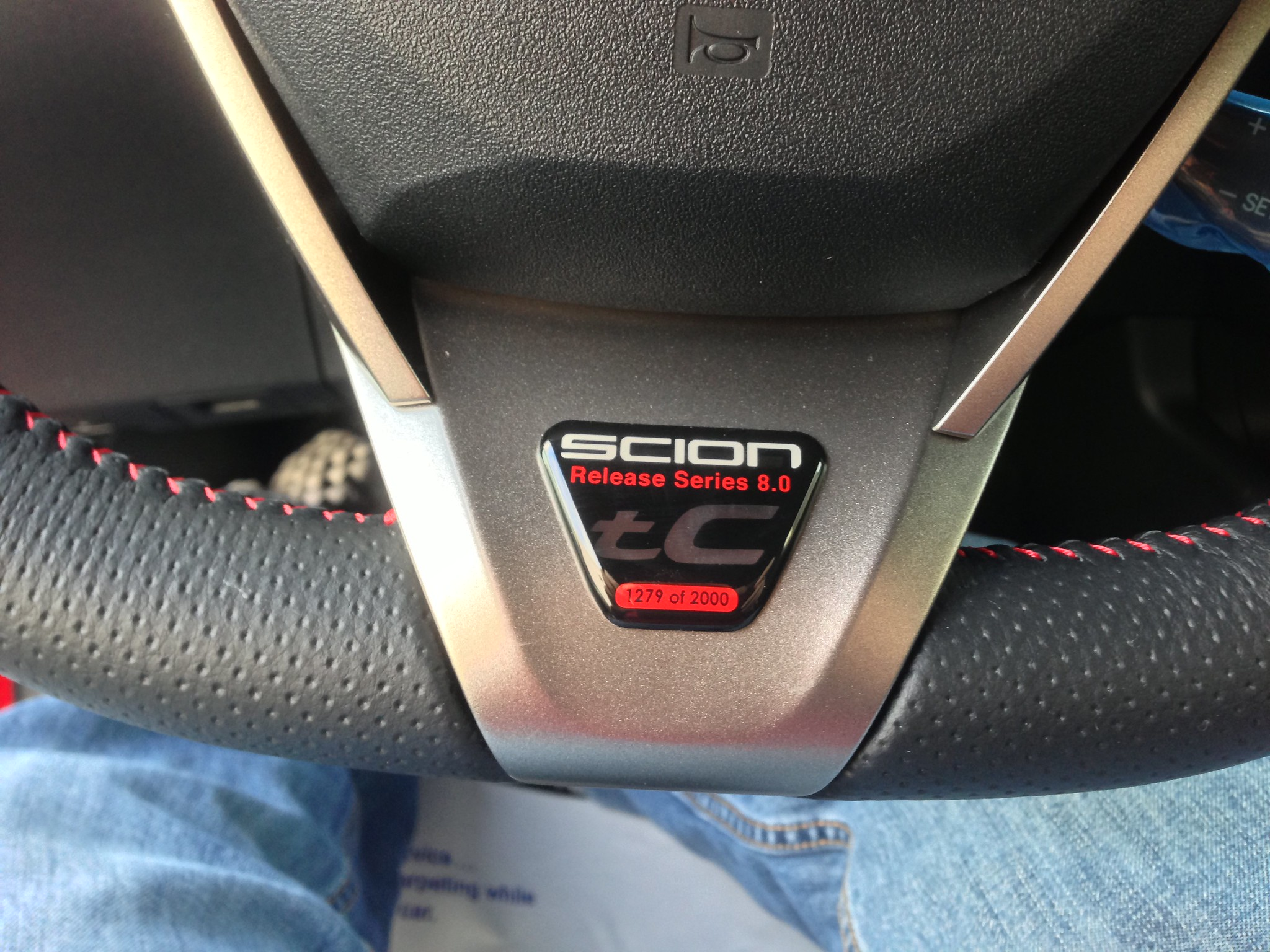 My New 2013 Scion Tc Rs 8 0 Badge This Replaces My