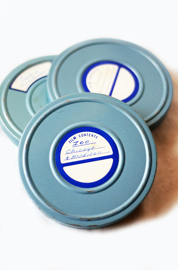 Vintage Film Canisters, Set of Three