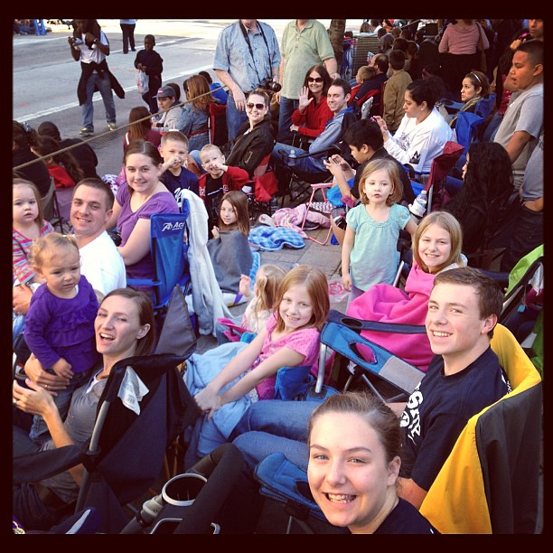 At the Houston Thanksgiving day parade with all my family!