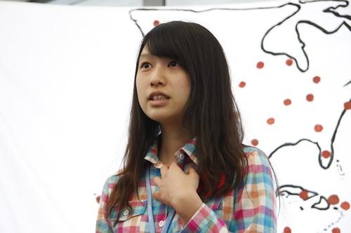 台灣青年毛姿媛於聯合國青年記者會分享親身經歷,謝雯凱攝