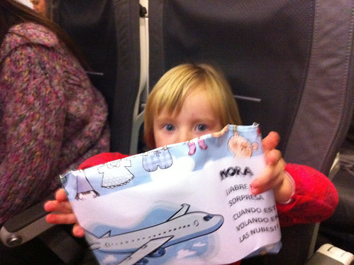 Present for Nora on the airplane