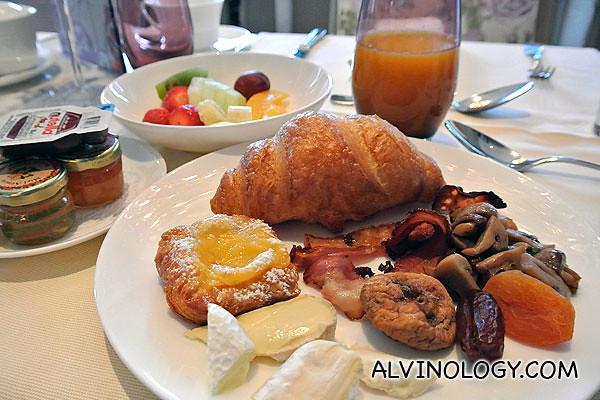 My first breakfast in Switzerland