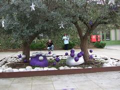 Els membres d'ADFO també van decorar les oliveres d'un dels espais exteriors del restaurant ara fa dos anys.
