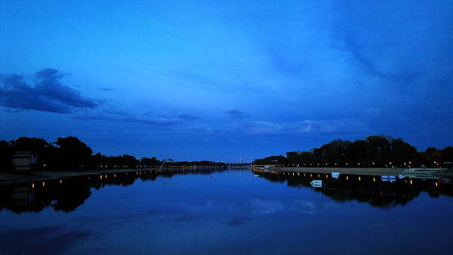 Blue hour over Ada lake