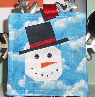 Paper-Pieced Snowman Ornament