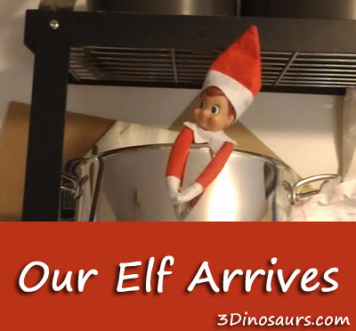 Our Elf Arrives (Photo from 3 Dinosaurs)