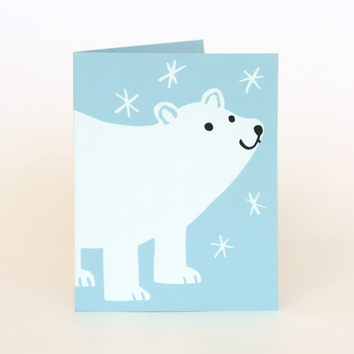 Polar Bear card by Lisa Jones
