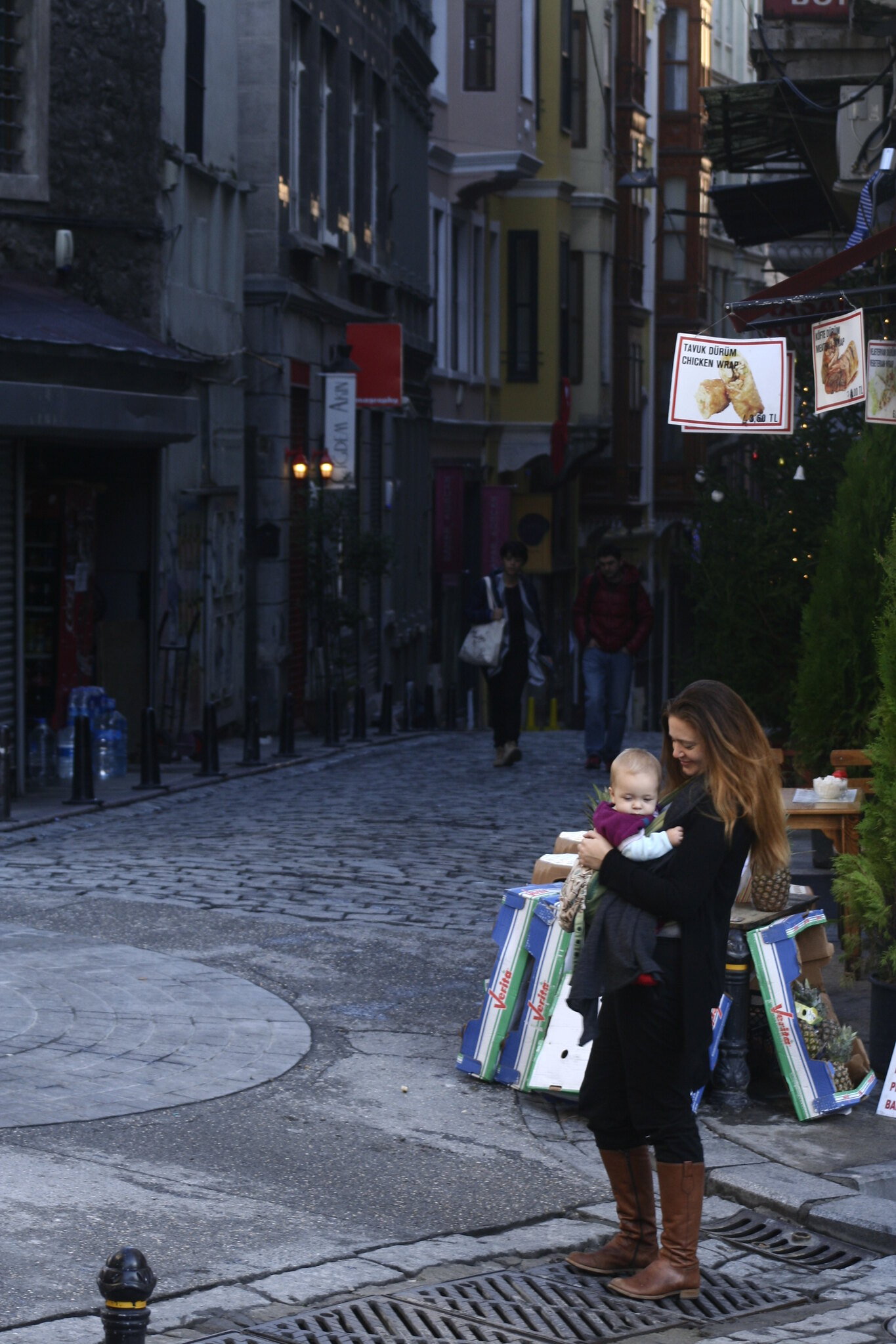 Julia and Neve on Galipdede Caddesi