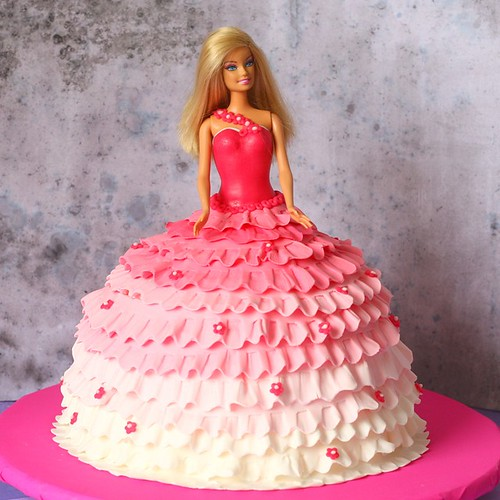 De Pleanos Infantil Una Torta De Barbie Es Una Buena Alternativa