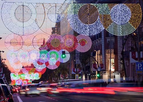 Дизайнер Тереза Сапей украсила светодиодами улицы Мадрида