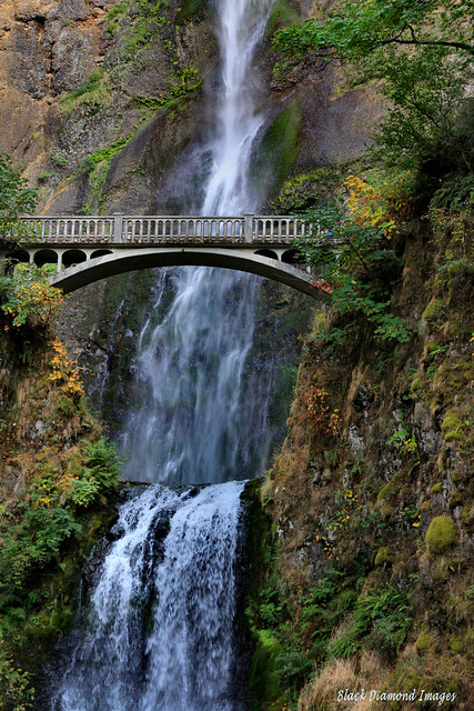 Benson Bridge & Multnomah Falls, Columbia Gorge, Near Portland, Oregon, USA