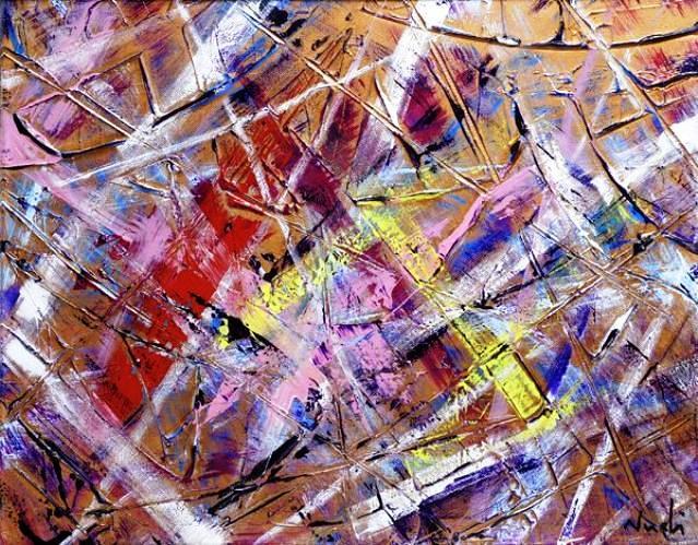 L'opera Colori e colore fino a dove non pensi sia possibile guardare è un 'opera informale materica realizzata con tecnica mista, pasta acrilica base polvere di marmo e colori acrilici