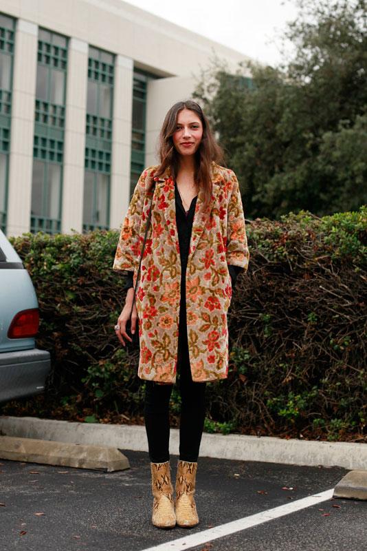 brocade_pcc street style, street fashion, women, Pasadena, PCC Flea Market