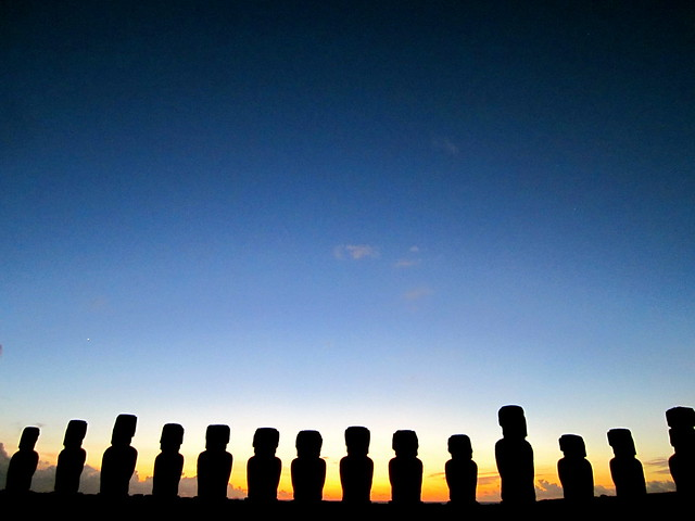 easter island travel, sunrise