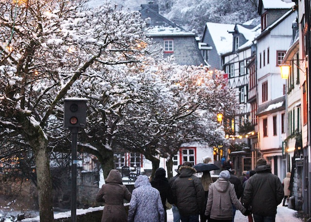 Monschau trees with snow
