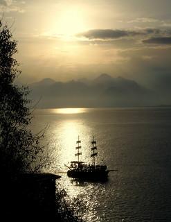 Romantic Sunset in Antalya (Turkey)
