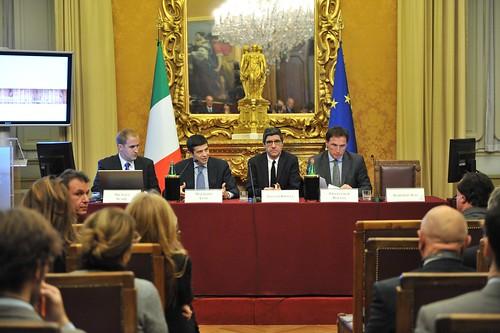 I relatori del convegno sui new media e la politica