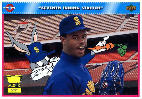 71fb6af71f Names: Ken Griffey Jr., Bugs Bunny Team: Seattle Mariners Positions:  Outfield, down a hole. Value of card: 12 rabbit pellets