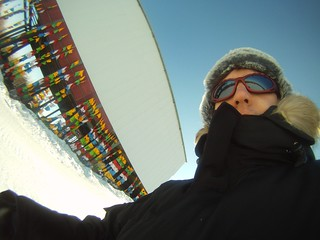 Me, freezing on the summit