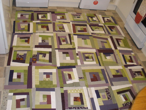 Wonky Log cabin (a la Quilt Dad) bee quilt