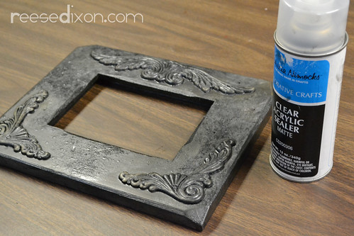 Antiqued Picture Frame Tutorial Step 6