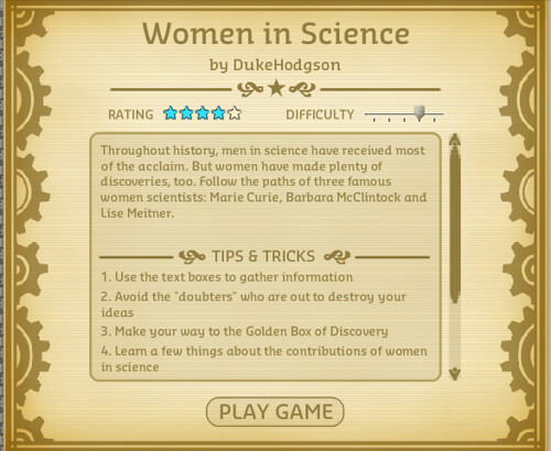 Women in Science title