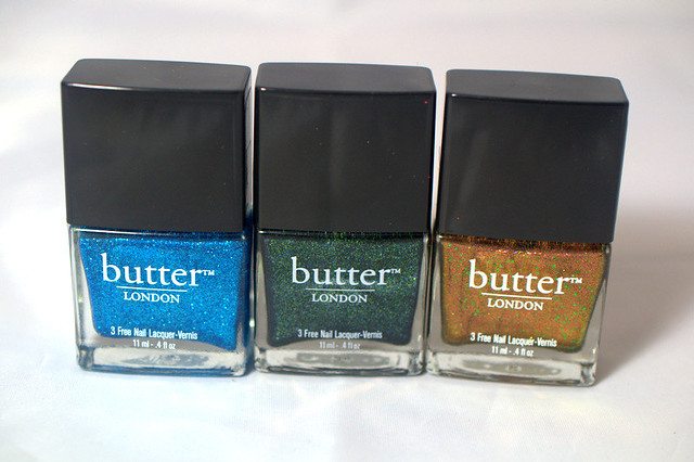 3 pretty babies from butter LONDON's Holiday nail polish collection