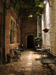 courtyard after dinner