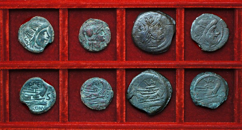 RRC 190 OPEI Opeimia bronzes, RRC 191 VAL Valeria bronzes, Ahala collection, coins of the Roman Republic