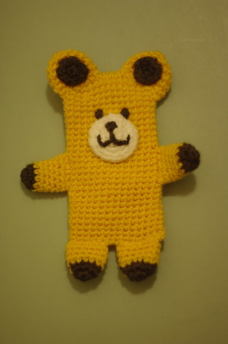 amigurumi #84 M iPhone cosy yellow bear3