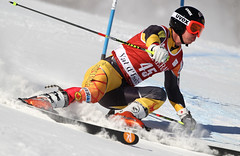 Trevor Philp in action in Val d'Isère, France, giant slalom.