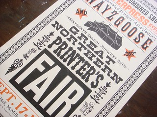 Great Northern Printer's Fair letterpress poster