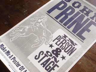 John Prine letterpress poster