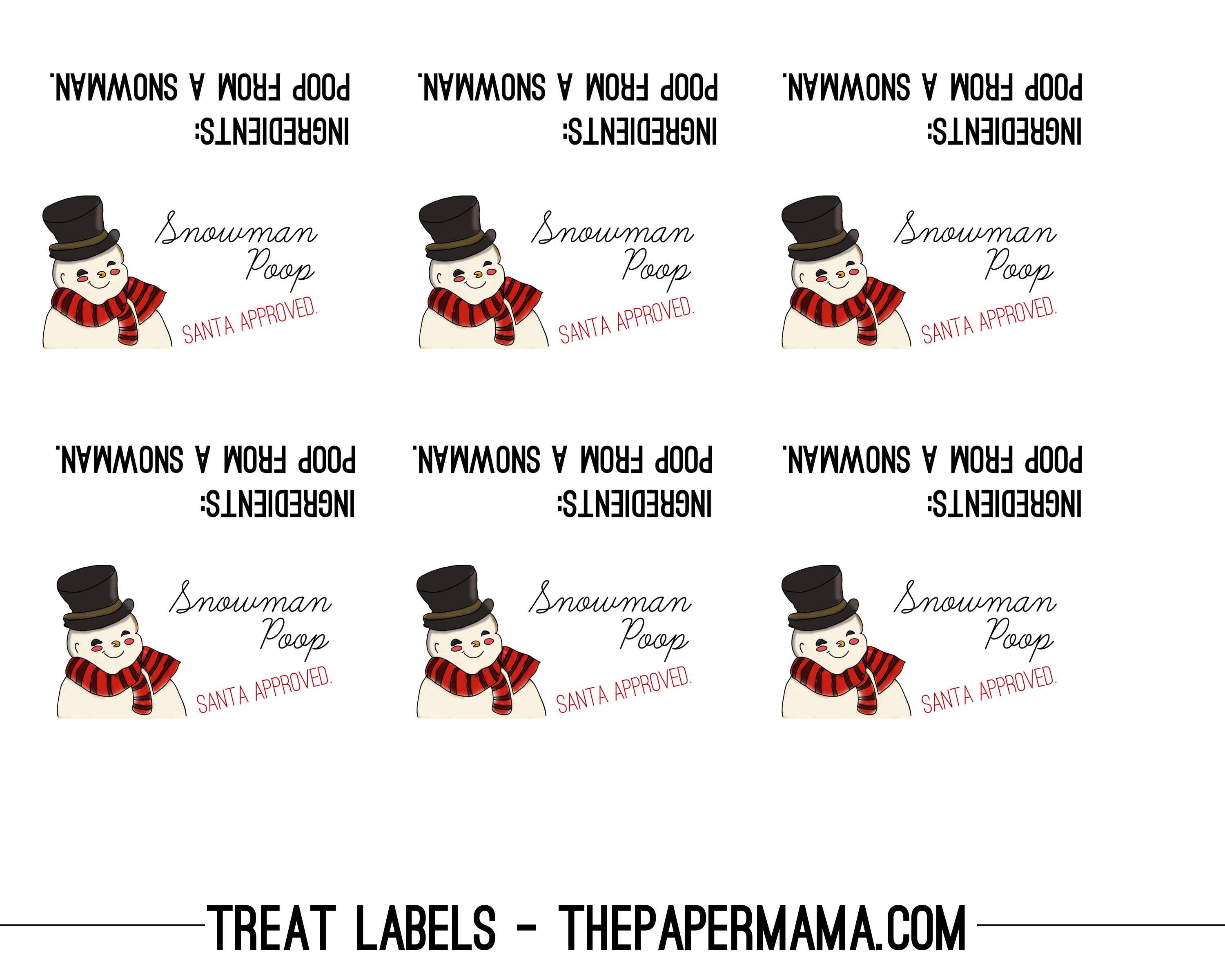 "Day 45: ""Poop"" Treat Labels - The Paper Mama"