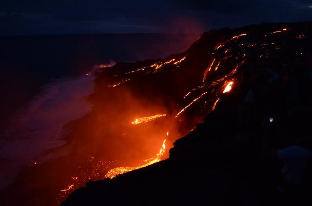 61G Lava Flow Entering the Ocean