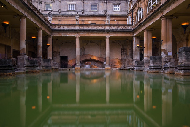 The Roman Baths in Bath, UK