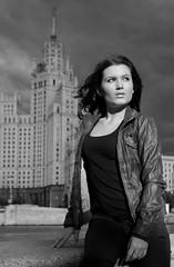 Oksana. Old time photo